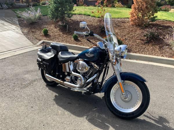 Photo Harley Davidson Fatboy 100th Anniversary Edition- 2003 - $8,000 (Ashland)