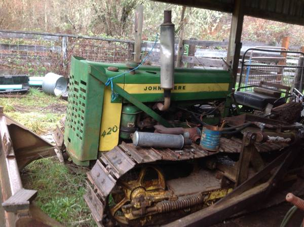 Photo John Deere 420 dozer - $3500 (Camas Valley)