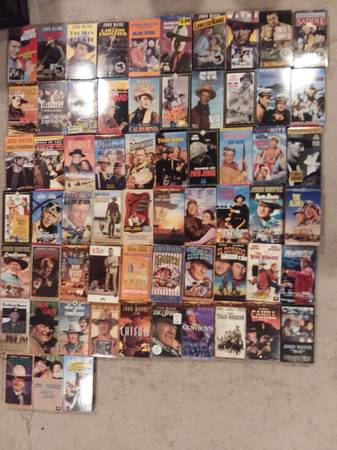 Photo John Wayne VHS - $75 (Newport)