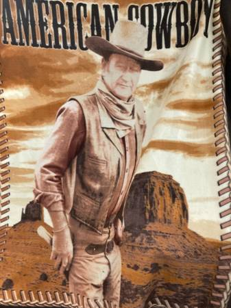 Photo John Wayne quotAmerican Cowboyquot Fleece Throw Blanket - $35 (myrtle Point)