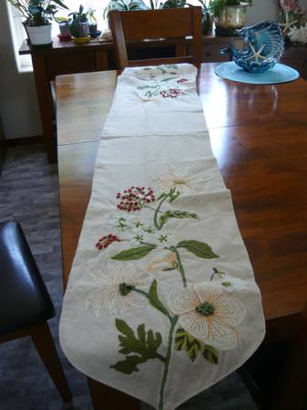 Photo PIER 1 IMPORT SPRING TABLE RUNNER - $10 (LINCOLN CITY)