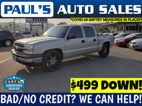 Photo SOLD2004 CHEVROLET SILVERADO LT LOADED CREW CAB LOW MILES (FIRST TIME BUYERS WELCOME HERE)
