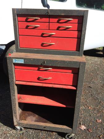 Photo Vintage Rolling Tool Chest Tool Box Garage Craftsman All American - $125 (Florence)
