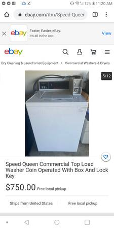 Photo coin operated top loader washer - $550 (Port Orford)