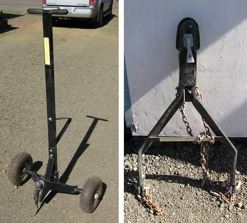 Photo trailer dolly $60.00 and tow hitch $80.00 (Otis)