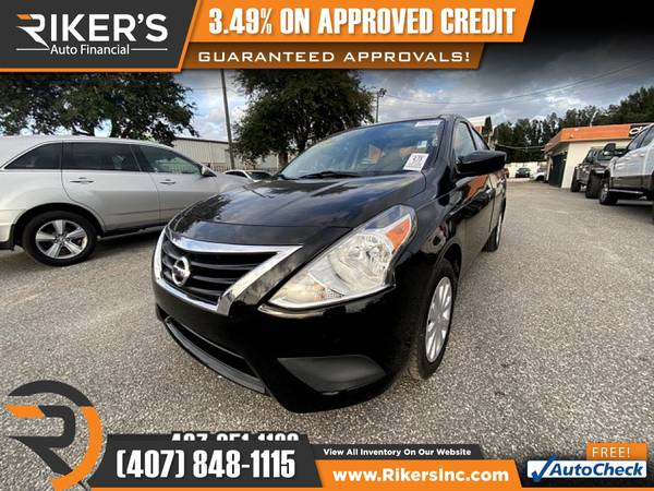 Photo $119mo - 2016 Nissan Versa 1.6 SV - 100 Approved - $119 (Rikers Auto Financial)