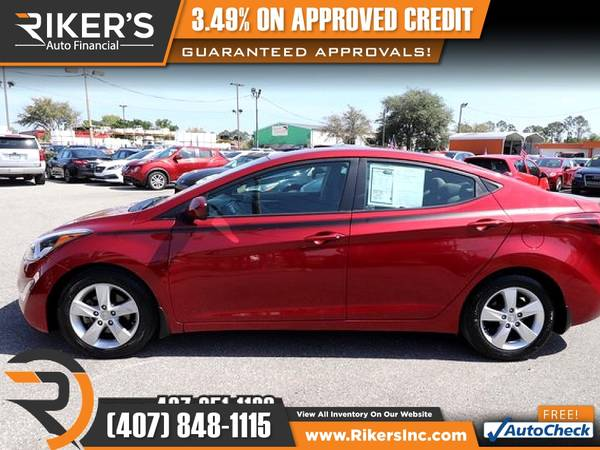 Photo $126mo - 2016 Hyundai Elantra SE - 100 Approved - $126 (Rikers Auto Financial)
