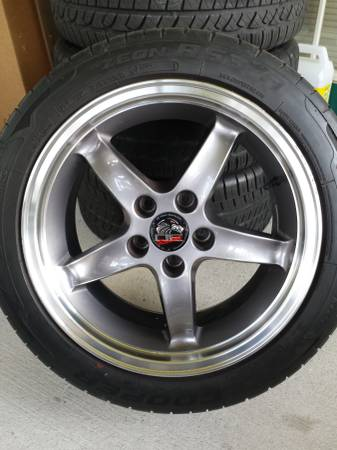 Photo 17 INCH RIMS FIT FORD MUSTANG COBRA R WHEEL FR04B 17X9 CHROME SET - $400 (Winter Park)