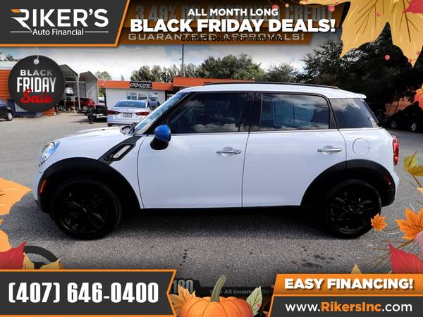 Photo $184mo - 2016 Mini Cooper S Countryman Base - 100 Approved - $184 (Rikers Auto Financial)