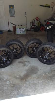Photo 18 inch Black Enkei Wheels 5 X 120 WCooper RS3 Tires. Like New - $900 (Clermont)