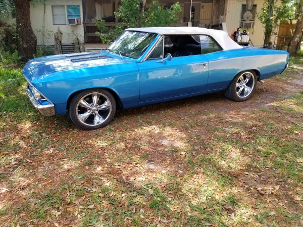 Photo 1966 CHEVELLE CONVERTIBLE 396 4 SPEED FRAME OFF - $65,000 (spring hill)