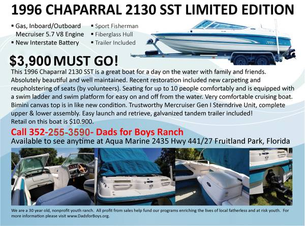 Photo 1996 Chaparral 2130 SST Limited Edition 2139 Boat - $1000