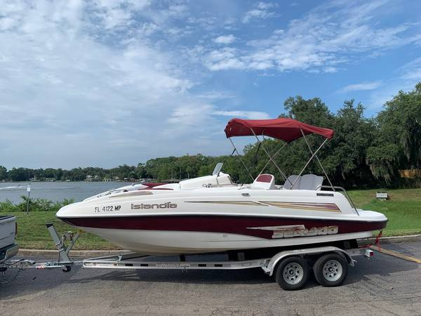 Photo 2003 SEA DOO ISLANDIA DECK BOAT 21 FT RECENTLY 100 SERVICED FUN - $14,900 (ORLANDOCOLLEGE PARK)