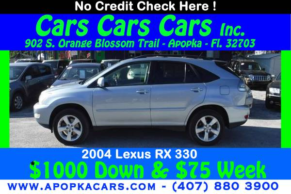 Photo 2004 Lexus RX 330  NO CREDIT CHECK  DRIVE TODAY (100 APPROVALS - FREE WARRANTY - CALL 407-880-3900)
