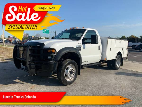 Photo 2009 FORD F450 GAS UTILITY BED SUPER CLEAN 120 K MILES - $16,900 (Orlando)