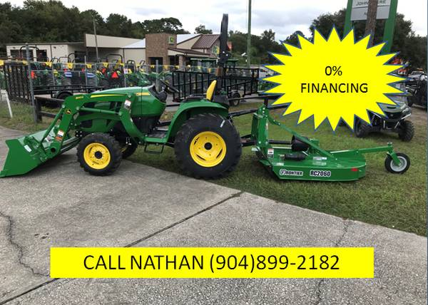 Photo 2019 John Deere 3038E Tractor, Loader, RC2060 - $24298 (CALL OR TEXT NATHAN  (904)899-2182)