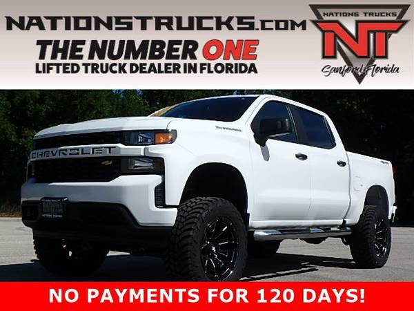 Photo 2020 CHEVY 1500 CUSTOM Crew Cab 4X4 LIFTED TRUCK - BACK UP CAM - $44995 (Central Florida)
