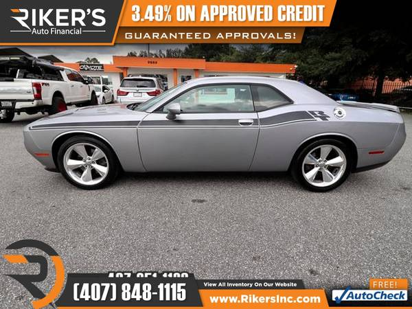 Photo $312mo - 2016 Dodge Challenger RT Plus - 100 Approved - $312 (Rikers Auto Financial)