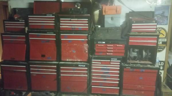Photo 57 Drawer Tool Box Lot Top Bottom Kennedy Craftsman Master Mechanics - $700 (Downtown Clermont)