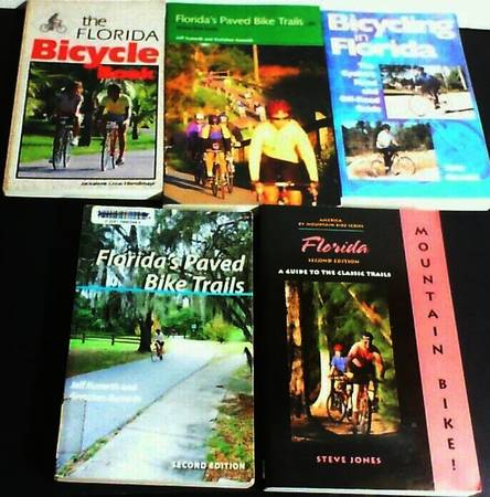 Photo 5 Books about Bicycling in Florida, On  Off Road, Mountain Biking - $10 (KISSIMMEE)