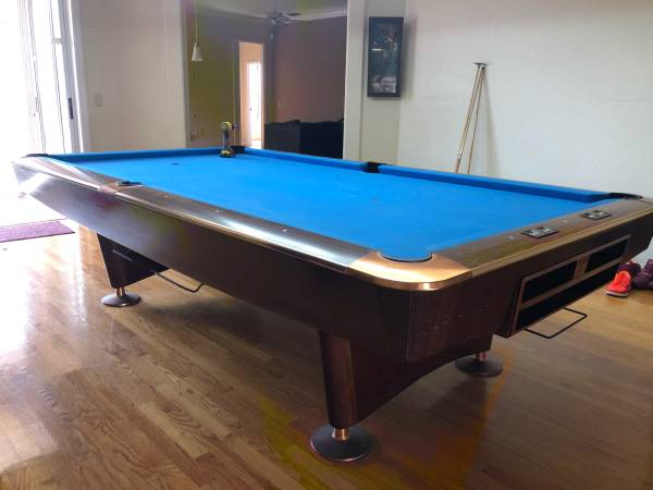 Photo 9 ft. Brunswick Gold Crown 3 Pool TableInstall  New Simonis Cloth - $3950 (Winter Springs)