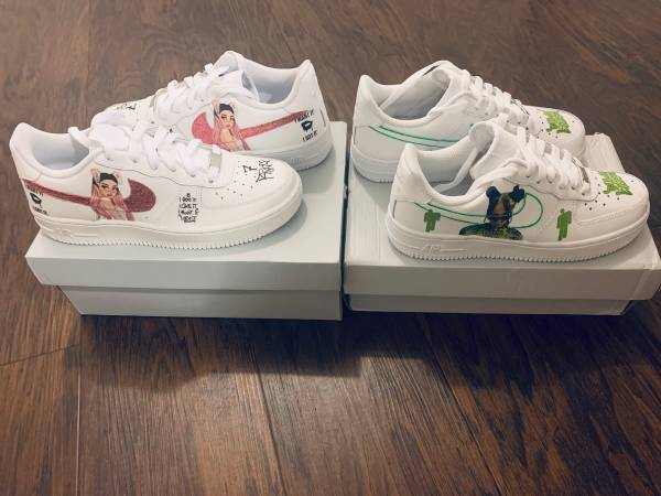 Photo Custom Made Womens Nike Air Force 1 Ones - $140 (South Orlando  Meadow Woods)