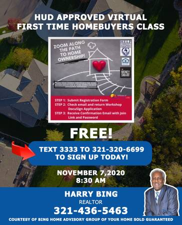 Photo HUD Approved Virtual First Time Home Buyer Class (Orlando)