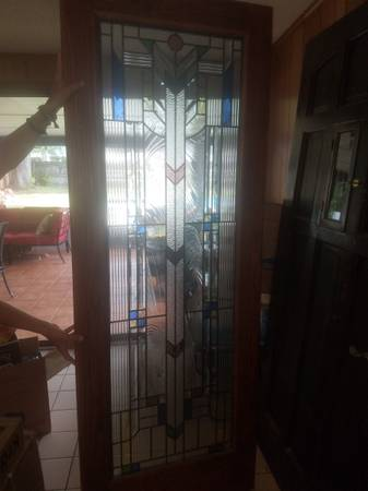 Photo Interior stained glass door - $500 (Orlando)