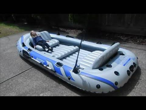 Photo Intex Excursion 5, 5 Person Inflatable Boat With Oars  Air Pump NEW - $419 (Orlando)