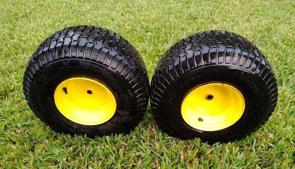 Photo John Deere Lawn Tractor Wheels w Tires - $95 (Orlando)