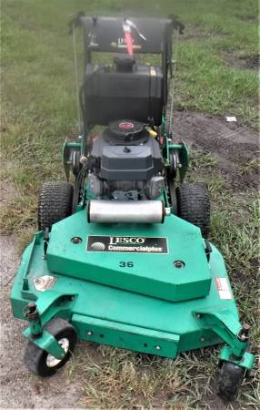 Photo Lesco 36quot Commercial Walk Behind Lawn Mower  Like New  2 Wheel Velky - $1650 (Sanford)