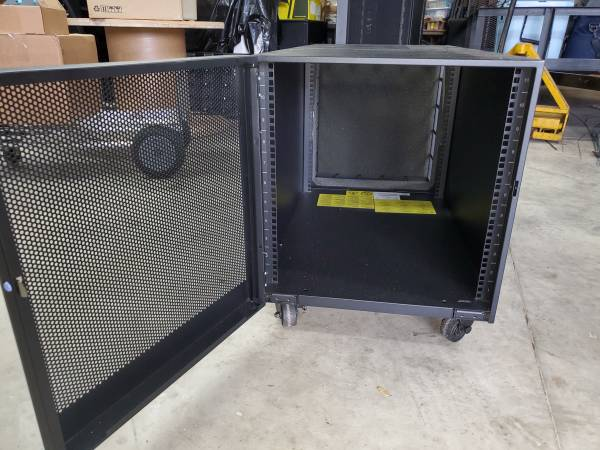 Photo Low Profile IBM Network Server Cabinet Bank on Wheels - $325 (Longwood Sanford Lake Mary Area)
