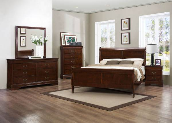Photo Mayville Louis Phillippe style bedroom in 4 color choices - $549 (central fla.)