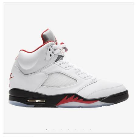 Photo Nike Air Jordan 5 Retro White Fire Red Brand New Size 10 - $300 (Orlando  Lake Nona)