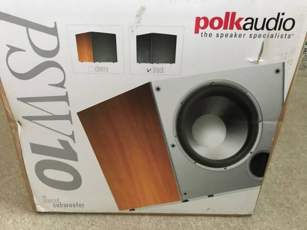 Photo Polk 10quot Powered Subwoofer Black Bass Amplifier Audio Home Theat - $125 (Sanford)