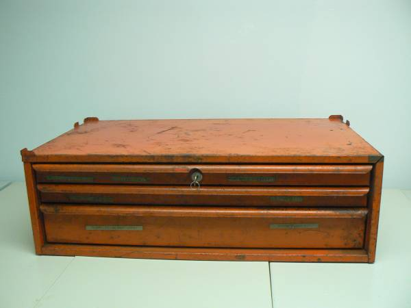 Photo SNAP ON tool chest Middle box 3 drawer 1969 w key - $205 (Orlando)