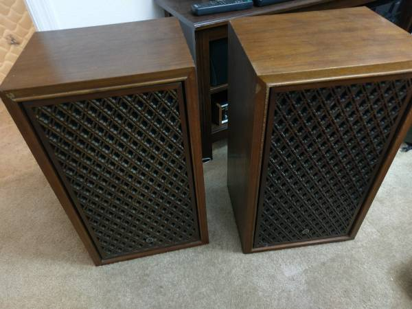 Photo Sansui SP-2000 SF-1 Speakers 1969 era vintage pair - $199 (Davenport)