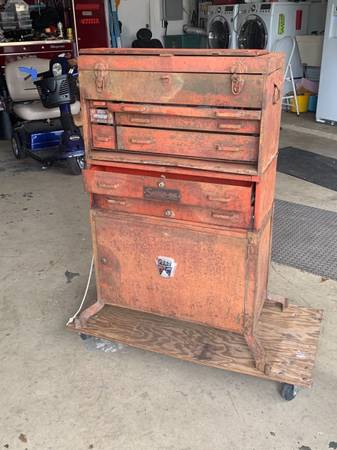 Photo Snap on Snapon Snap-on 3 piece antique tool box set - $600 (Edgewater 32141 NSB area)