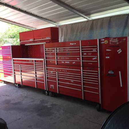 Photo Snap on Snapon Snap-on 8 piece tool box set up - $25900 (Edgewater 32141)