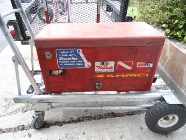 Photo VINTAGE SNAP ON TOOL BOX LOAD WITH HAND TOOLS AND POWER TOOLS - $225 (LONGWOOD FLA)
