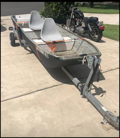 Photo jon boat and 14-foot trailer - $750 (Winter Park)