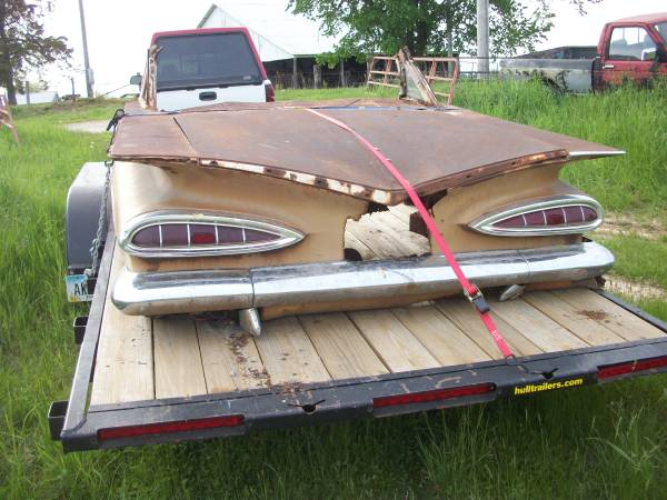 1959 Chevy rear clip rat rod - $1,250 (Richland, Iowa)