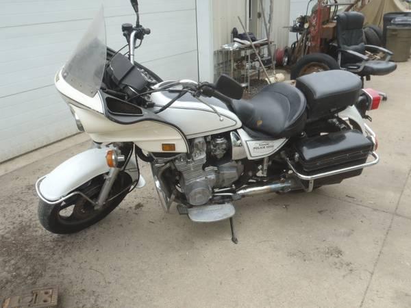 Photo 1991 KAWASAKI KZ1000 POLICE MOTORCYCLE CHIPS RUNS GOOD - $2,495 (MT UNION)