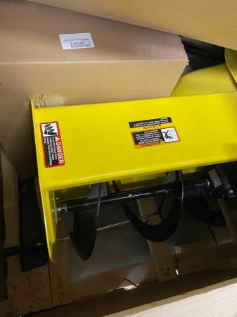 Photo 44 Snowblower in box for John Deere 100 series lawnmowers - $1,399 (Newton)