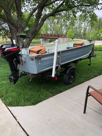 Photo Boat, Motor and Trailer for Sale - $1,800 (Fairfax)