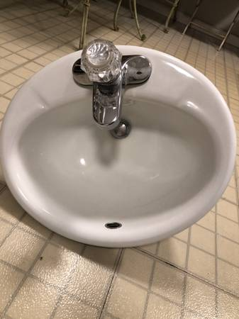 Photo Kohler Bathroom Sink with Delta Faucet - $30 (Iowa City)