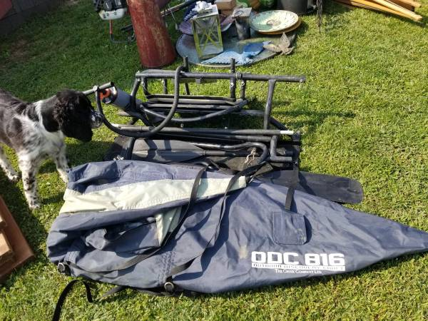 Photo ODC 816 one man pontoon boat for sale,great for small pond fishing - $150 (Bloomfield)
