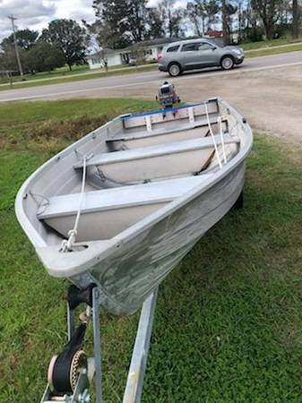 Photo 12 Ft Aluminum Boat and Trailer for sale Motor included but is not cu - $1,200 (Point Harbor)