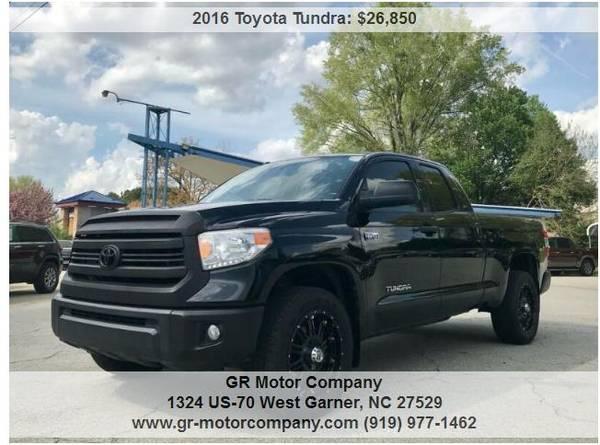 Photo 2016 Tundra Double Cab XP 4x4-Tech package, XD Wheels, HOT - $26,850 (Garner-warrantyfinancing)
