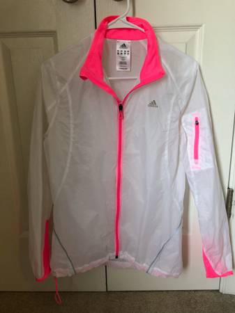 Photo Adidas Ultra Light Women39s Size S White and Hot Pink Rain Jacket - $20 (midlothianchesterfield)